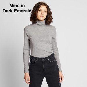 Uniqlo Stretch Cotton Turtleneck Long Sleeve Shirt